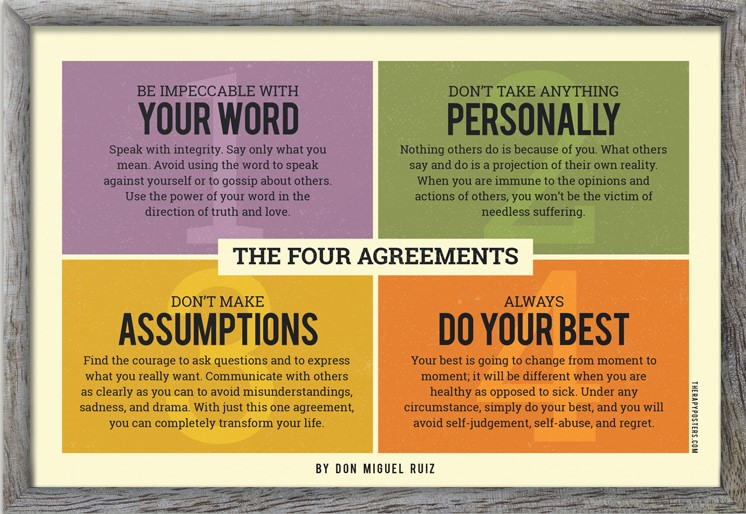 Don Miguel Ruiz's Four Agreements Applied to Higher Ed. Leadership — Dr.  Audrey Reille